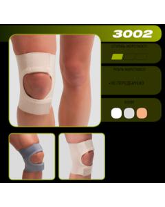 3002 Бандаж колінного суглоба(з відкр.чашечкою)(сірий)_р6