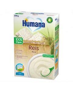 "Каша ""Хумана"" органічна безмолочна рисова суха 200г"
